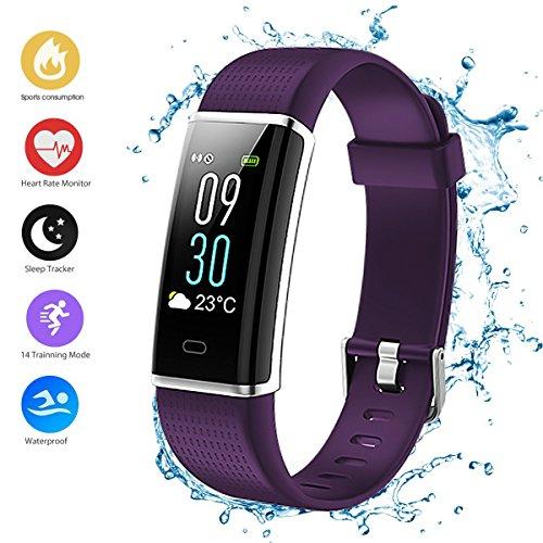 Pulsera de Actividad, Pulsera Inteligente Reloj Deportivo Contador de Calorías Fitness Podómetro Monitor de Frecuencia Cardiaca Monitor de Sueño Impermeable IP68, para Mujer Hombre, iOS y Android