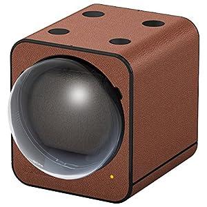 Boxy Fancy Brick Uhrenbeweger, Cognac, PU Leder, modular