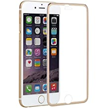 Protector de pantalla Xinrd de cristal templado con dureza de 9H para iPhone6 y 6s. Protector de cristal templado de alta calidad anti-huellas dactilares y anti-reflejo con marco de aleación ideal para Apple iPhone 6 y 6s, 4,7pulgadas, color negro