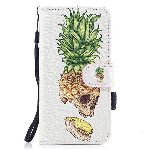 iPhoneX iPhone di 5 Portafoglio con con case per design cover Custodia inch inShang integrato 8inch funzione 5 X Skeleton Pineapple supporto 8 UEPn7qw