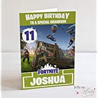 Fortnite inspired Birthday Card