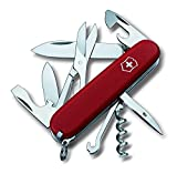 Victorinox Taschenmesser Climber, 14 Funktionen, Schere, Mehrzweckhaken, Korkenzieher, rot matt