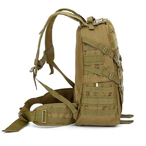 LF&F Hochwertige Camping-MilitäRischen Taktischen Rucksack Outdoor-Angriff Rucksack Bergsteigen Tasche Wandern Radfahren Angeln GepäCk Tasche 40L KapazitäT Schultertasche Handtasche A
