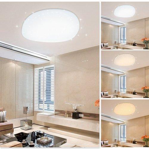 VGO® LED 50w Deckenleuchte Mordern rund 3in1 Farbwechselfunktion Wand-Deckenleuchte Wohnraum Sternenhimmel Abstrahlwinkel 120°