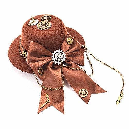 Sombrero Vintage con lazo con corte en forma de mariposa