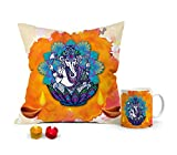 This Diwali, say hello to this gorgeous combo of 3 beautiful utility products from BUZZWORLD! This combo contains three pieces of art- a cushion, mug and two LED diyas. Add style and comfort to your living space with these combo set of 3. The coffee ...