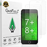 GadFull HD Displayschutzfolie aus Panzerglas kompatibel mit iPhone 7 Plus, iPhone 8 Plus | Touchscreen-Schutzfolien ohne vollständige Abdeckung für 3D-Handys, 2er-Pack