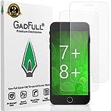 GadFull 2 Pezzi Pellicola salvaschermo HD in Vetro temperato per iPhone 7 Plus, iPhone 8 Plus | Protezioni Touchscreen 3D Lisce per Telefono