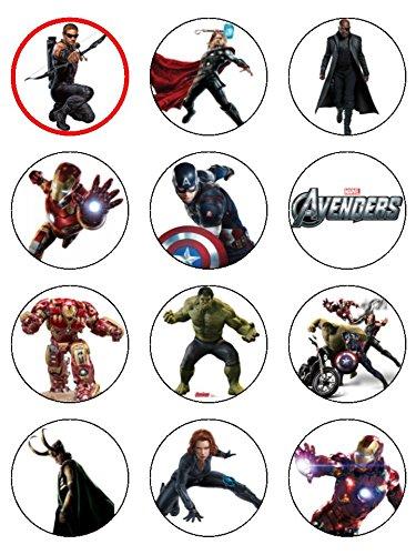 (30,5x 5,3cm Avengers Essbarer Zuckerguss Geburtstag Kuchen Topper Hulk Iron Man)
