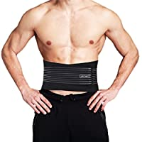 TOMASHE Lumbar Lower Back Brace and Support Belt for Men & Women - 8 stable Splints for Back Pain Relief,Sciatica,Scoliosis - Dual Adjustable Straps and Breathable Mesh Panels