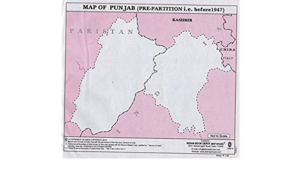 Buy Punjab Map before Partition -Set for 5 Book Online at