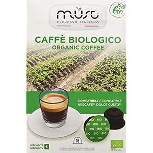 Must Espresso Italiano 96 Capsule Compatibili Dolce Gusto Caffè Bio - 6 confezioni da 16 capsule