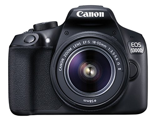Canon EOS 1300D DZ 18 MP Digital SLR Camera (Black) with 18-55 and 55-250mm is II Lens + 16GB Card and Carry Case