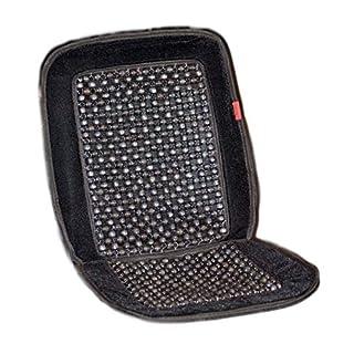 autooptimierer.de Auto-Sitzauflage Holzkugel mit universeller Passform - Nostalgie Auflage Holzperlenaufleger Autositz (Luxus Schwarz)