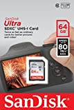 SanDisk Ultra 64 GB SDXC Class 10 Memory Card up to 80 Mbps