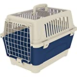 Ferplast 73015399W1 Transportbox ATLAS 10 OPEN ORGANIZER, für Katzen und Hunde, Maße: 47,6 x 33,2 x 33,6 cm, blau