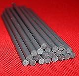 25x PVC Kunststoffstab | dunkelgrau | Ø 6mm x 150mm |
