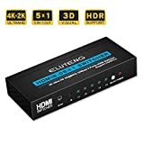 ELUTENG HDMI Switch 4K x 2K 18Gbps 5 in 1 out HDMI Splitter...