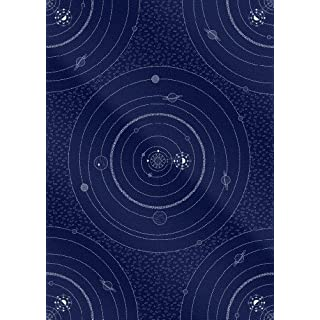 Astronomy Space Planet and Stars Gift Wrap (2 Sheets + 2 Gift Tags) Perfect for stargazing books or a telescope