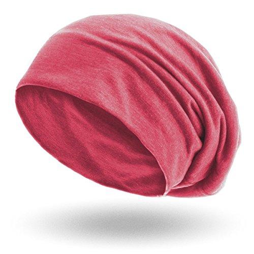 style3 Berretto 'Slouch beanie' in jersey traspirante, fino e leggero , Colore:Bacca melange