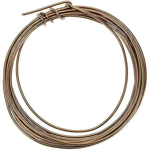 Filo per perline, in alluminio, colore: bronzo, 1,5 mm, 3 m