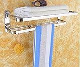 MDRW-Accessori Da Bagno Portasciugamani Bagno Pendente Hardware 304 Doppia Ripiegatura Asciugamano Da Bagno Asciugamano Rack Rack Pendente Con Nessuna Luce