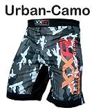XXR Pantalones cortos para deportes de lucha y artes marciales, diseño de camuflaje, color verde o gris, color Urban-Camo, tamaño XL