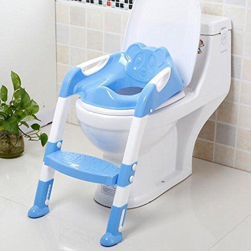 Lanlan WC-Töpfchen Ausführen Leiter Deluxe Training Sitz und Schritt blau (Anbaugeräte Für Atv)