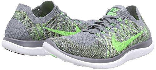 Nike Free 4.0 Flyknit Herren Laufschuhe Grau (Cool Grey/Green Strike/Black)