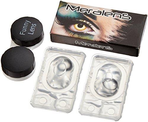 Meralens Natural Ring Kontaktlinsen mit Behälter ohne Stärke, 1er Pack (1 x 2 Stück)