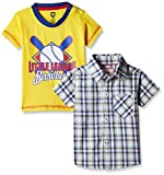 612 League Baby Boys' Shirt (BLS16I38007_Yellow_6-12 Months)