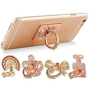 HongYong Bling Strass Diamond Rotating Finger Grip Ring Telefon-Ring-Standhalter für alle Handys, iPhones, Tablets und iPads