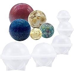 Juego de 5 moldes de silicona para arcilla polimérica, manualidades, resina, emoticonos, joyería