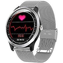 QTEC Reloj Inteligente ECG PPG Reloj Inteligente con electrocardiógrafo ECG Pantalla Holter ECG Monitor de Ritmo