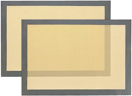 2 Stück Glasfaser Antihaft-Silikon Backkuchen Gebäck Fondant-Matte, Plätzchen Kuchen, der Werkzeug herstellt (40 * 30CM)