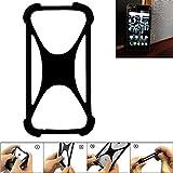 K-S-Trade Handyhülle für Kodak Ektra Schutz Hülle Silikon Bumper Cover Case Silikoncase TPU Softcase Schutzhülle Smartphone Stoßschutz, schwarz (1x)