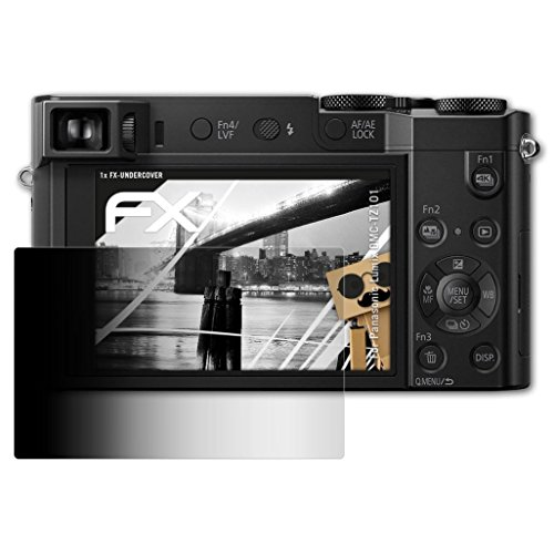 Panasonic Lumix DMC-TZ101 Blickschutzfolie - atFoliX FX-Undercover 4-Wege Sichtschutz Blickschutzfilter Displayschutzfolie