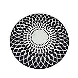 Love QAZ Runder Teppich, Einfache und Moderne nordischen Stil Wohnzimmer Teppich Kaffee Tisch Schlafzimmer Teppich Runde Studie Teppich 160x160 cm, 120x120 cm (Größe: 100*100 cm)