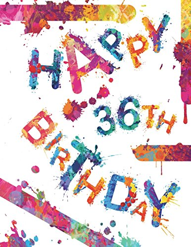 Happy 36th Birthday Cool Book To Use As Notebook Personal Journal Or Diary105 Lined Pages Gifts For 36 Year Old Women Men Mom