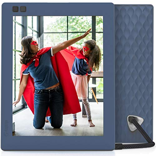 Nixplay Seed 8 Inch Digital Wifi Photo Frame W08D Blue- Digital Picture Frame with IPS Display, Motion Sensor and 10GB Online Storage, Display and Share Photos with Friends via Nixplay Mobile App