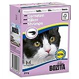 Bozita Cat mit Garnelen 370g Katzen-Nassfutter Häppchen in Sosse