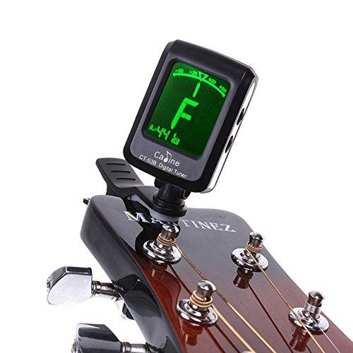 Contever® Stimmgerät Stimmgeräte Pitchclip Clip-Tuner Gitarre Bass Ukulele Violine