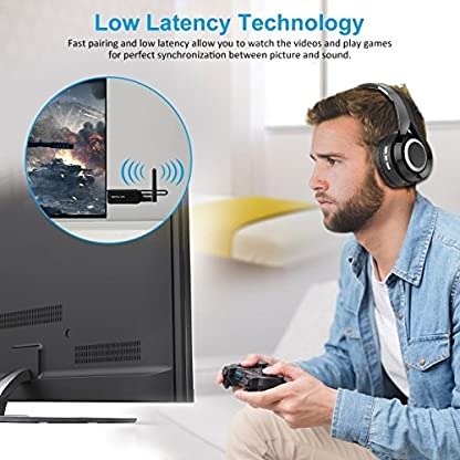 ELEGIANT-Bluetooth-Transmitter-Wireless-Audio-Sender-Bluetooth-40-Adapter-Low-Latency-CVC-60-Noise-Cancelling-PlugPlay-Externer-Antenne-fr-TV-PC-Notebook-Bluetooth-Kopfhrer-Lautsprecher