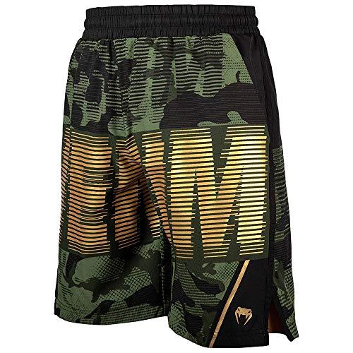 VENUM Tactical - Pantalones Cortos de Entrenamiento, Color Verde y Dorado, Small