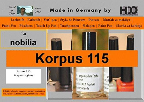 HDO Farbstift Lackstift Touch-up-Pen for Nobilia Korpus 115 Magnolia Glanz (Farbstifte, Deutsch)