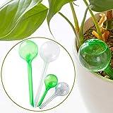 TOPBSET 4er Automatisch Bewässerung,Bewässerungssystem Zimmerpflanzen Wasserspender für Keramik Zimmerpflanze Spikes Bewässerung, Bonsai, Pflanzen, Blumen