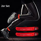 ZNEX LED socken Leuchtsocken für Sport & Outdoor, 2er Set rot/rot. Hell leuchtendes LED Jogging Fahrrad Licht Warnlicht Blinklicht für hohe Sichtbarkeit im Dunkeln