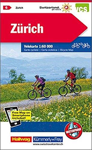 KuF Schweiz Radkarte 06 Zürich 1 : 60 000: Mit Stadtplan (Kümmerly+Frey Velokarten) (Zürich Karte)