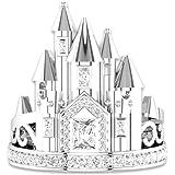 AllRing - Anello in argento da donna con cristalli a castello, elegante regalo per donne e ragazze