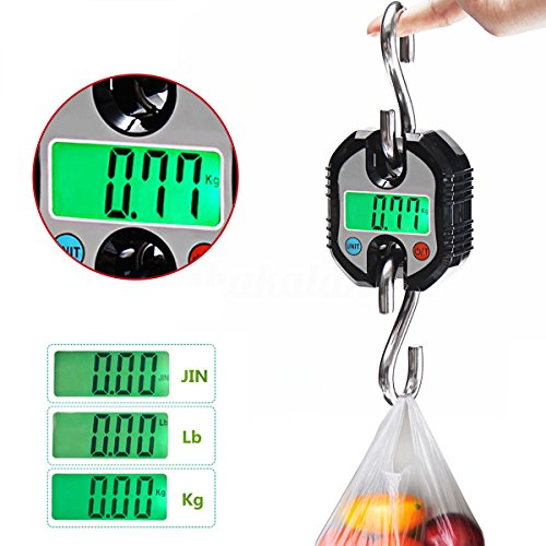 Mini báscula digital LCD 150 kg gancho electrónico